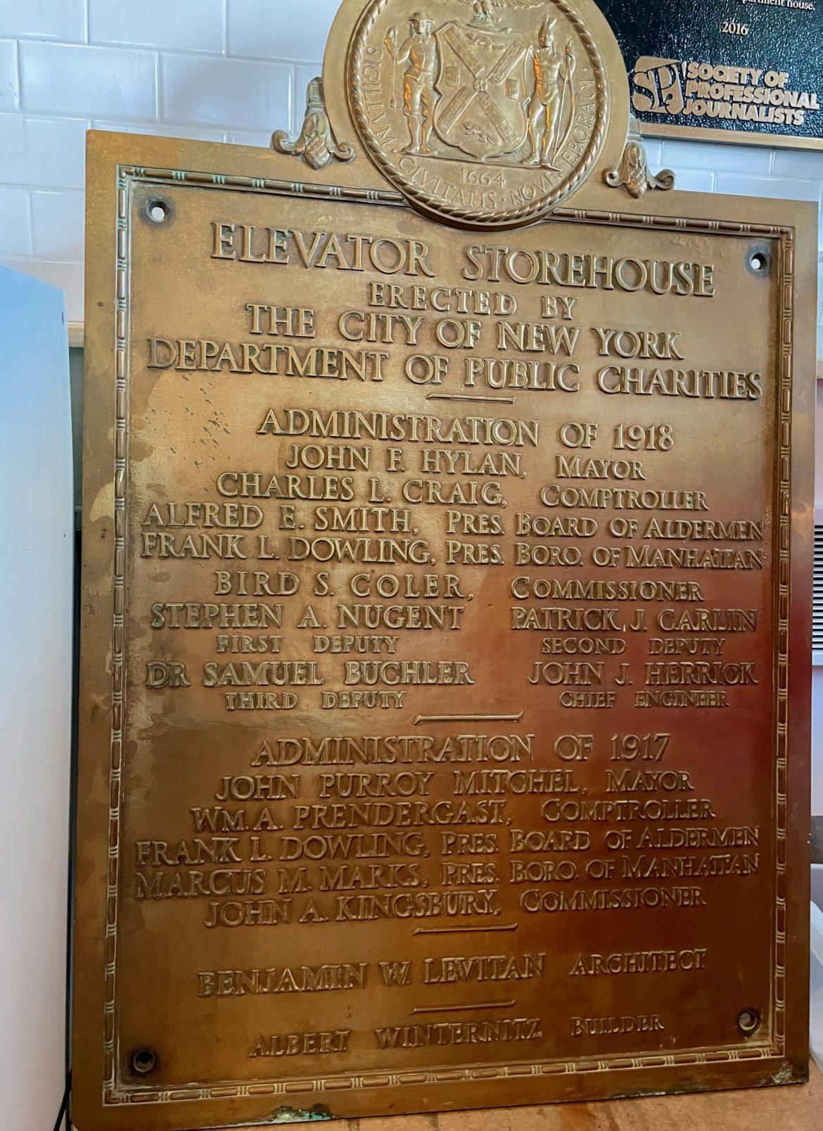 RIHS Returns The Elevator Storehouse Plaque  Home On Roosevelt Island