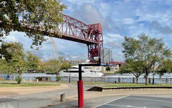 Yacht Cruises Under Roosevelt Island Bridge, Lifted for UN Week