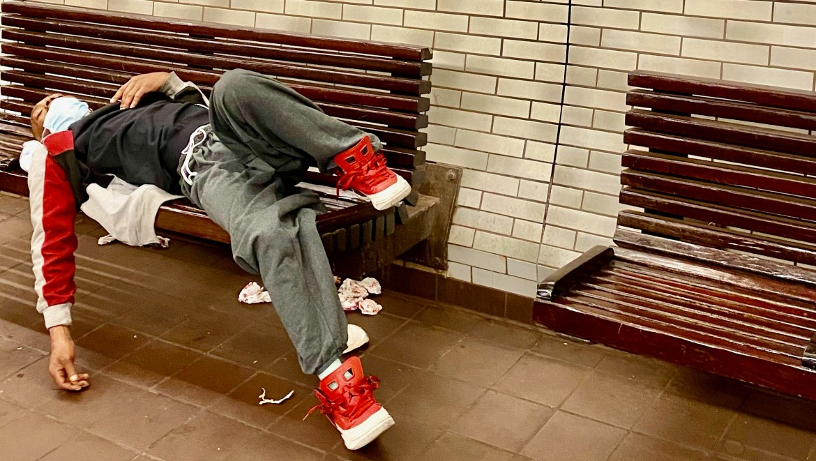 Still Sleeping in the Roosevelt Island Subway. Is there no solution?