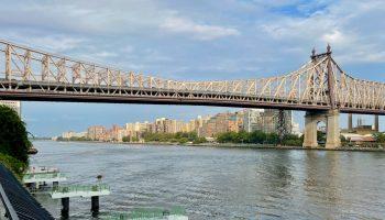 Roosevelt Island Community Framed by the Queensboro Bridge
