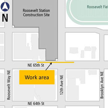Construction at NE 65th Street and 12th Avenue NE Starts Monday, Sep. 22nd