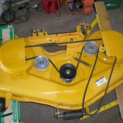 Cub Cadet Belt Replacement Diagram Kohler Wiring Install Lt1050 Deck Www Toyskids Co Zt I1050 Idler Bracket Mytractorforum Com The Ltx 1050