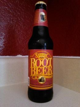 Saranac Root Beer Glass Bottle