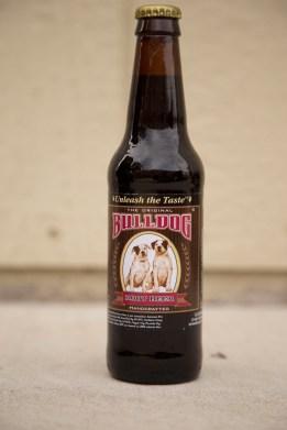 Bulldog Root Beer Bottle