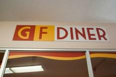 GF Diner signage