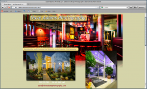 Dave Adams Photography Website built by Sitebuilders.com