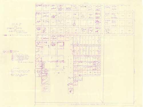 Boucher Cemetery 1910 Plat Map
