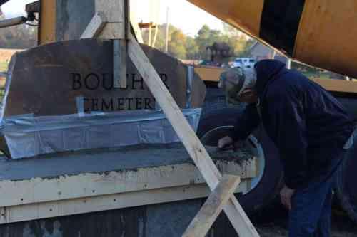 Boucher Cemetery Sign