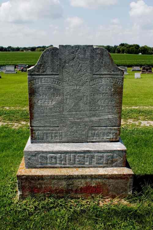 Jacob and Anna Schuster Genealogy