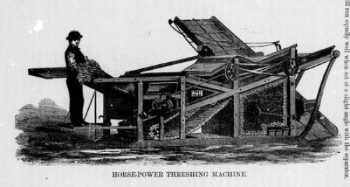 threshing machine 1873