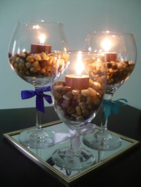 Wine Glass Centerpieces | Rooted in Love