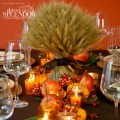 Make a gorgeous fall wedding centerpiece with anything from wheat to