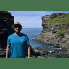 Cornish Surf Brand Rooted Ocean - Heritage-Tee-Ocean