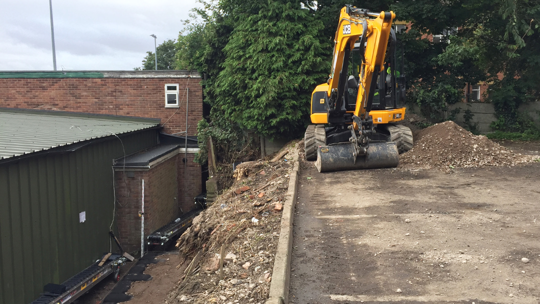 Restricted access to failing embankment