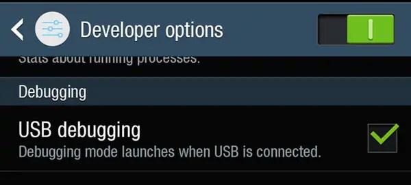 Enable USB Debugging In Galaxy J7