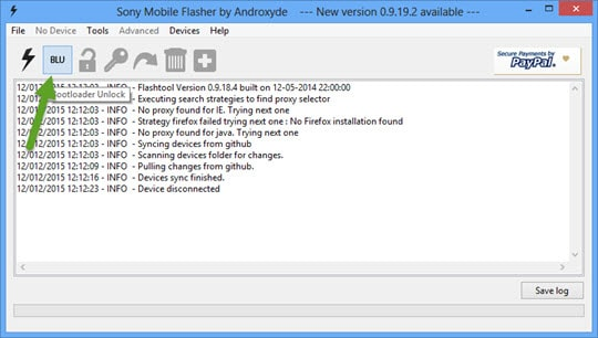Sony Mobile Flasher Bootloader Unlock