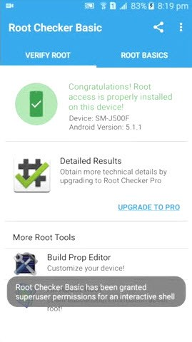 Samsung Galaxy J5 Root Checker Root Access Available