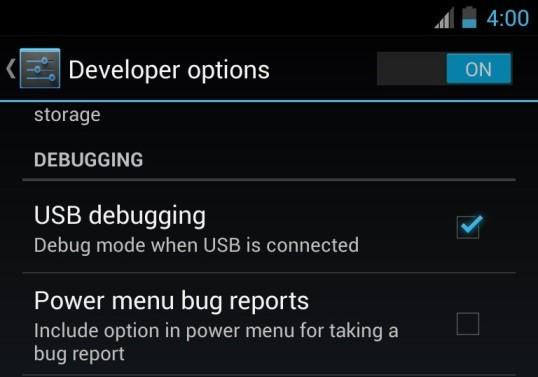 Enable USB Debugging Nexus 9