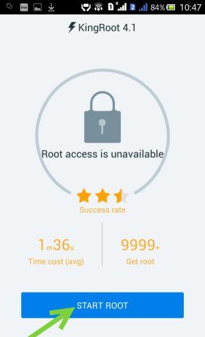 Akses KingRoot Root Tidak Tersedia