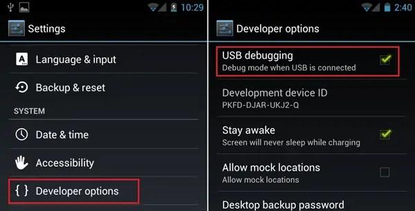 Lava Smartphone USB Debugging