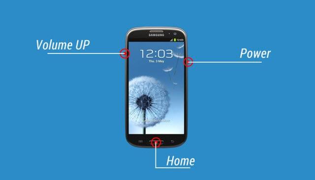 Modo de recuperación Teclas combinadas Samsung Smartphone