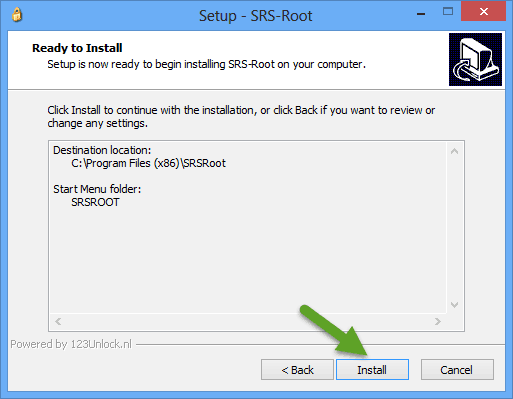 Install SRS Root