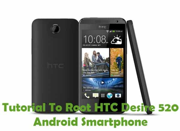 How To Root HTC Desire 520 Android Smartphone Using Kingroot