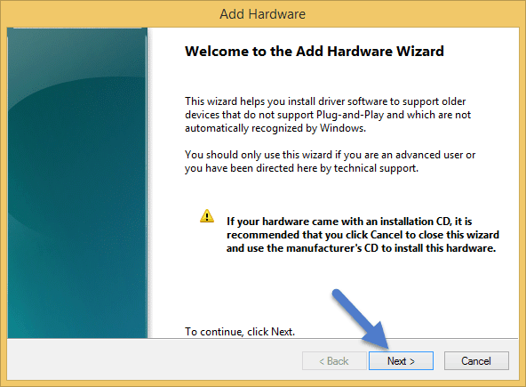 Welcome to the Add Legacy Hardware CDC Driver