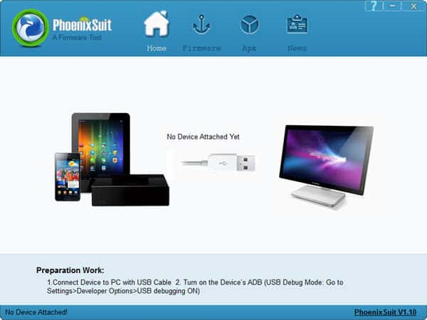 Download PhoenixSuit v1.10 (Latest Version)