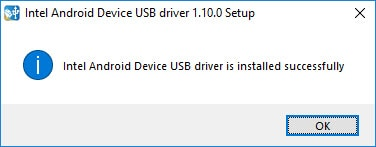 Intel Driver Installed Successfully