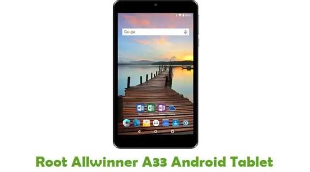 Root Allwinner A33