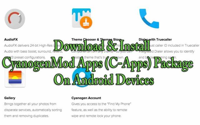 Download & Install CyanogenMod Apps (C-Apps) Package