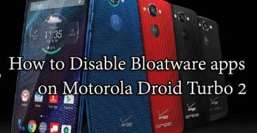 Disable Bloatware apps on Motorola Droid Turbo 2