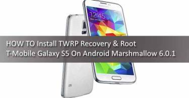 Install TWRP & Root T-Mobile Galaxy S5 On Android Marshmallow 6.0.1