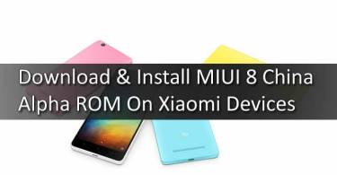 Download & Install MIUI 8 China Alpha ROM On Xiaomi Devices