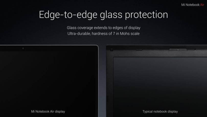 Xiaomi Air 12.5 Laptop Edge to Edxge display