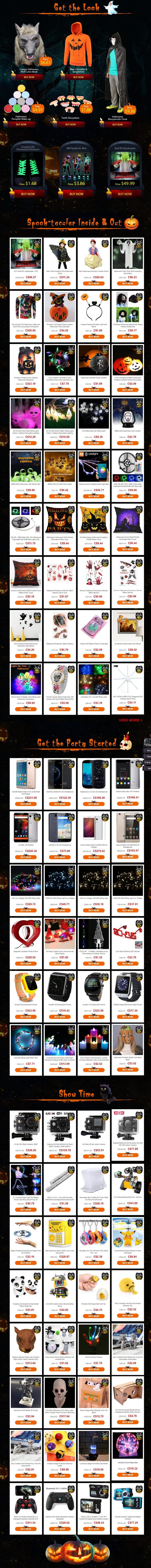 Product List- Gearbest's Epic Halloween Flash Sale