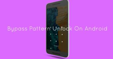 Bypass Pattern Unlock On Android