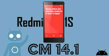 Download and Install Official CM 14.1 on Redmi 1S