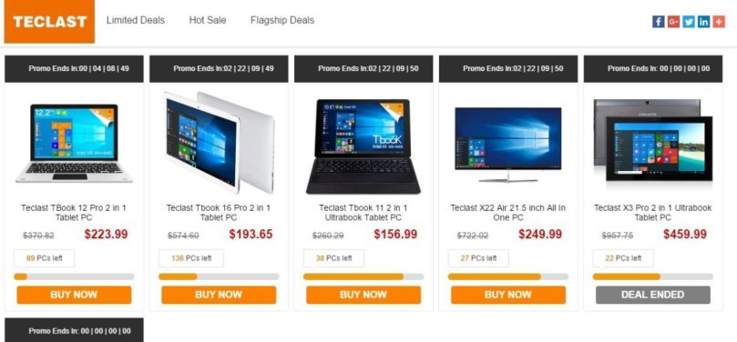 Teclast Special Tablet and Tablet PCs Promotional Sale