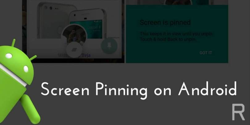 Enable Screen Pinning On Android