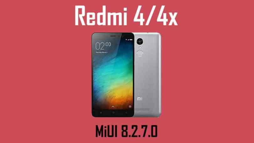 MIUI V8.2.7.0 Global Stable ROM on Redmi Note 4