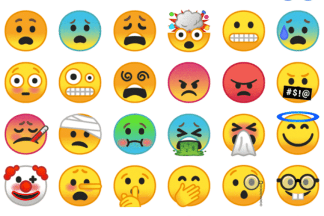 Changes in emojis