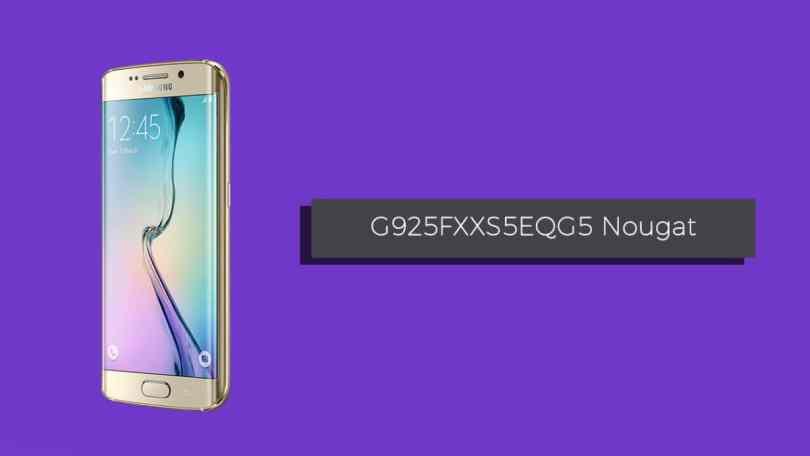 Download Galaxy S6 Edge SM-G925F G925FXXS5EQG5 Nougat