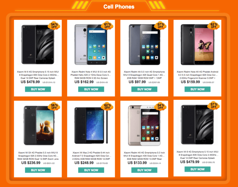 Cell Phones - Best Seller - YoShop's Xiaomi promotional Flash Sale
