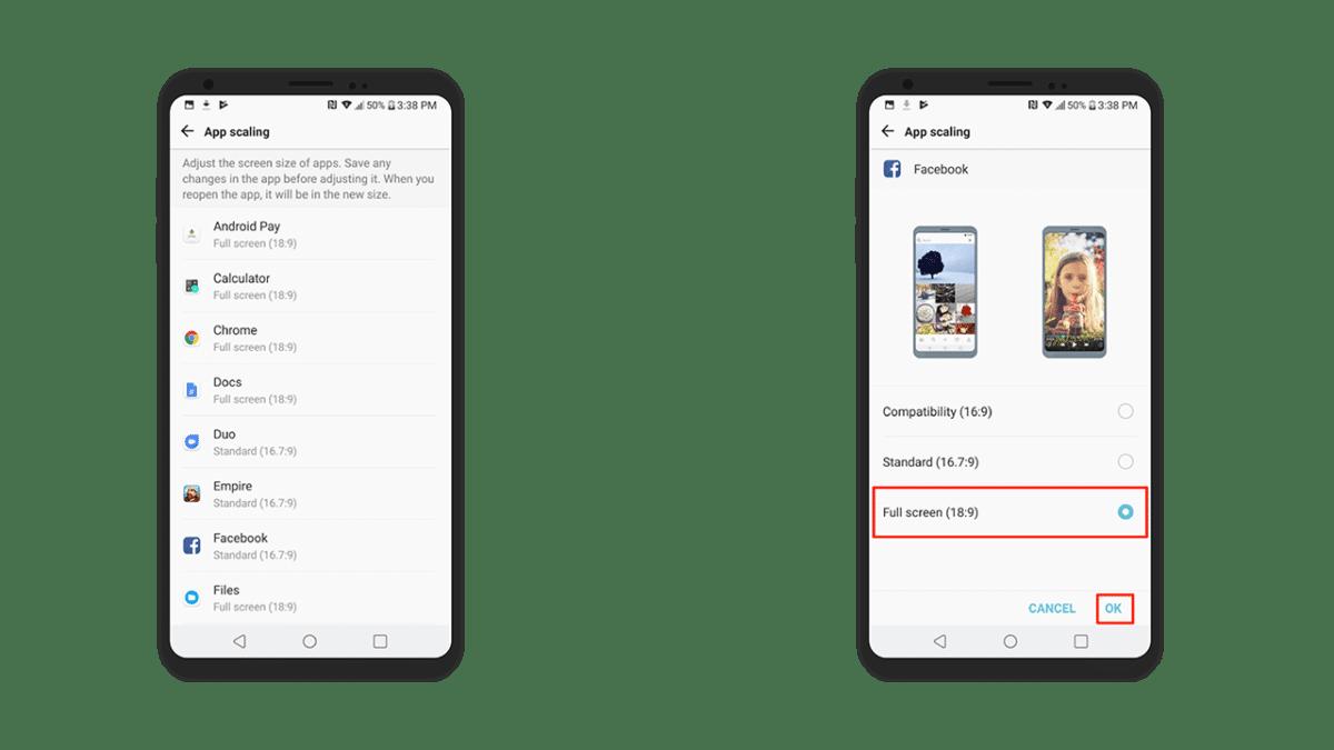 How to Enable Full Screen Apps On LG V30/V30+ (App Scaling)