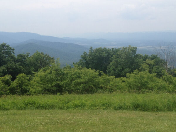 The Shenandoah National Park, just a couple of miles from their new house.  Photo credit: Jane