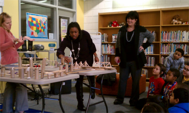 Third grade bridge building competion