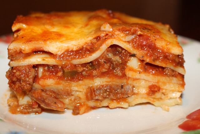 Homemade lasagna. We invited a few FIRE friends over for a meal.