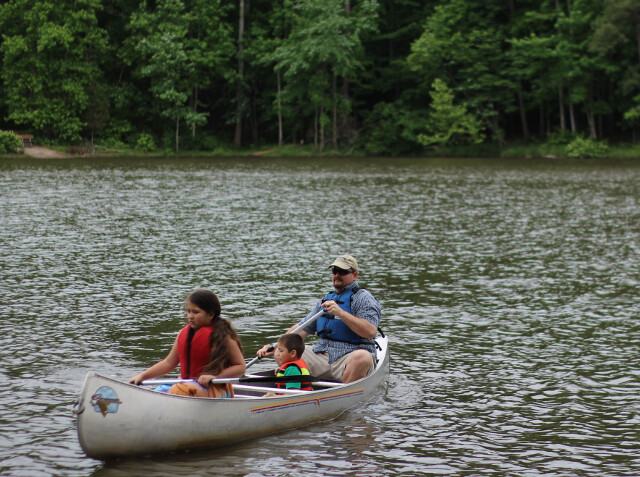 Drove out to the City's Nature Preserve for some canoeing.